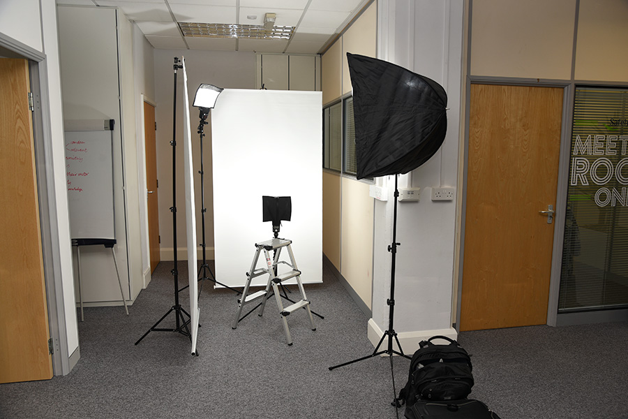Headshot lighting setup