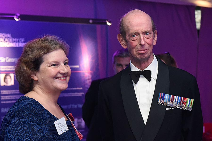 Dame Anne Dowling with HRH The Duke of Kent