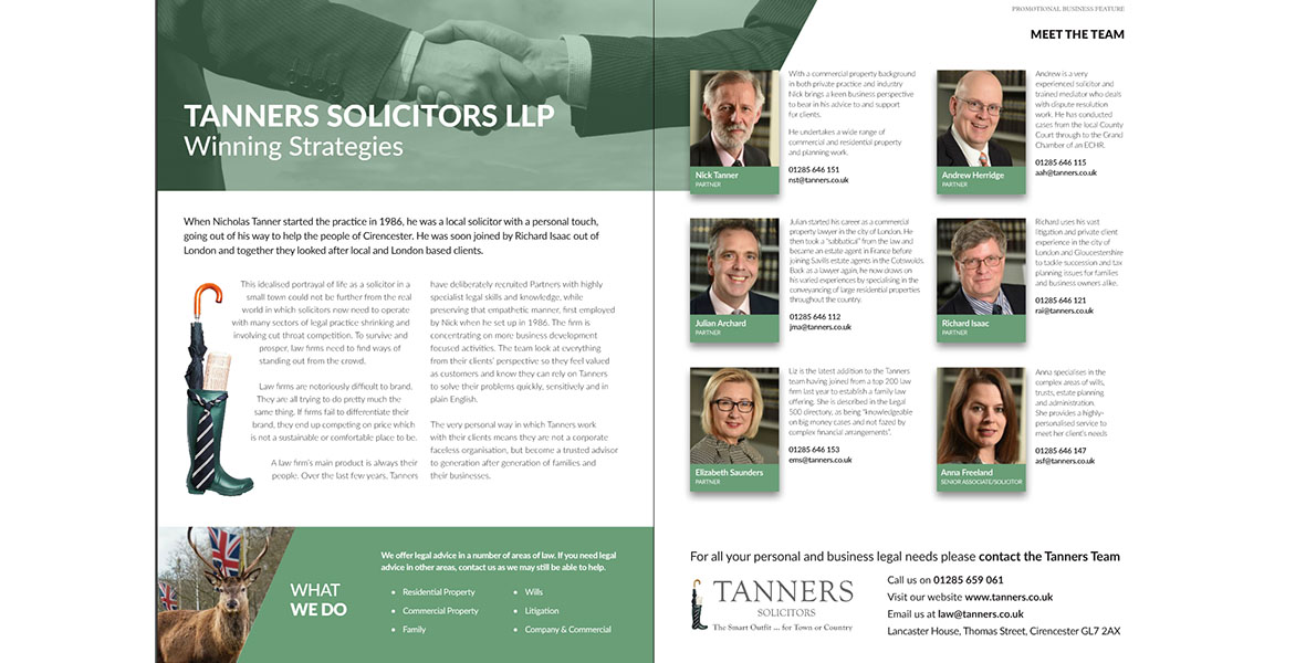 Tanners LLP Screenshot