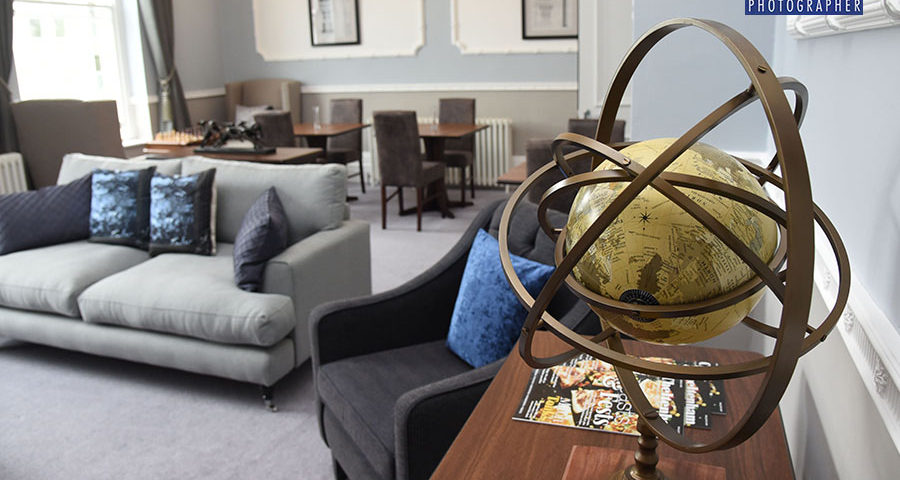 Library in luxury retiremet apartments