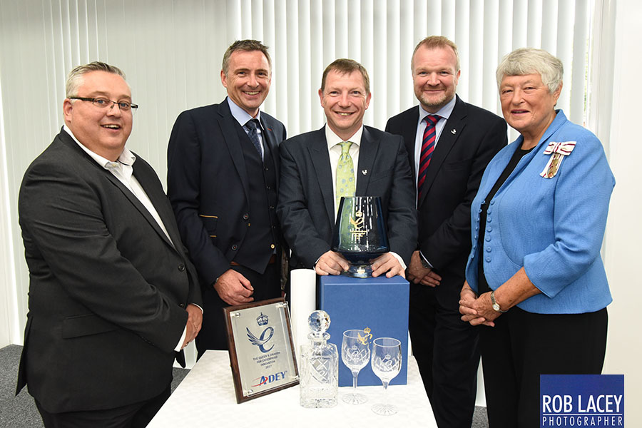Adey team recieve their Queen's Award