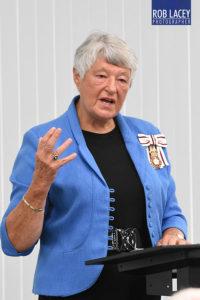 Dame Janet Trotter at Adey, Cheltenham