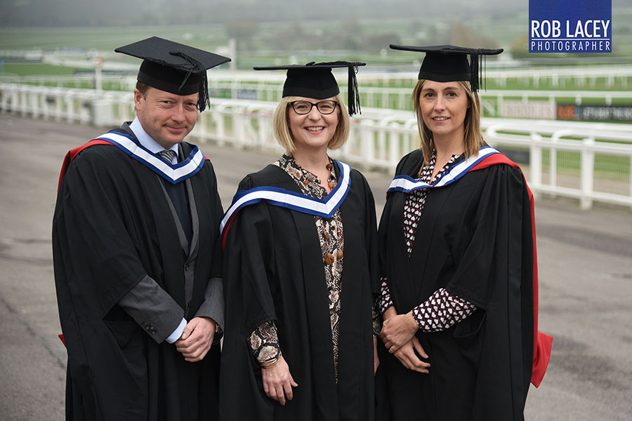 Quolux University of Gloucestershire Ceremony outside group MBA