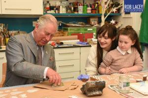 HRH Prince Charles visiting Sue Ryder