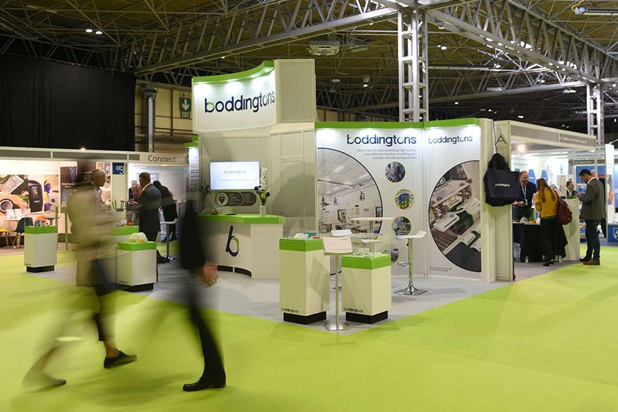 Exhibition floor blurred visitors - Birmingham NEC