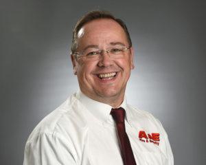 A&E Fire & Safety headshot male white shirt