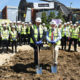 Cutting the first sod at McLaren Construction - Banbury