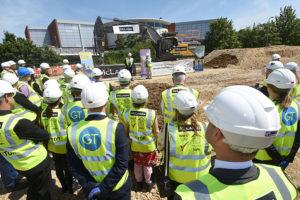 Cutting first sod construction Banbury