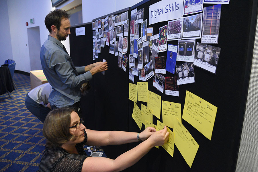 ideas board at conference
