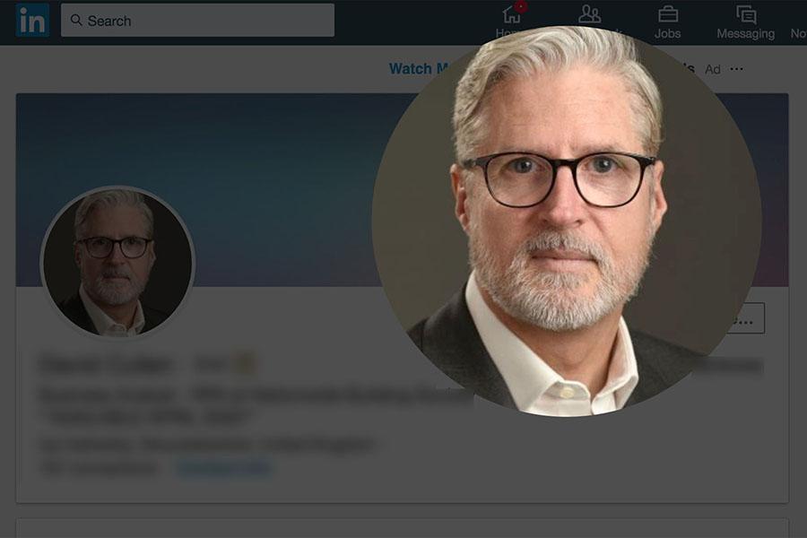 Linkedin headshot profile page