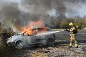 car fire test